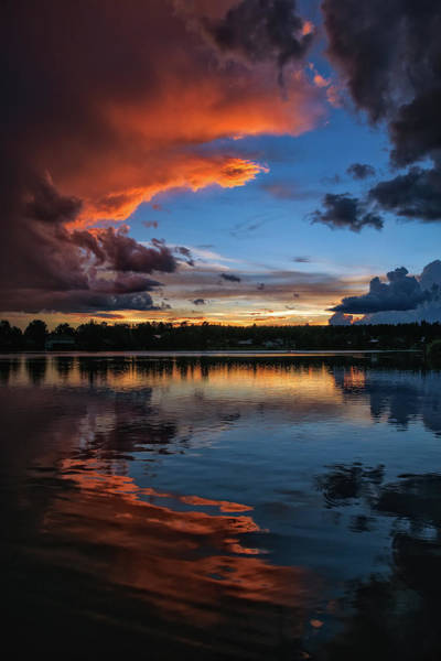 Photograph - Monsoon Sunset On Lake Pagosa by Jason Coward