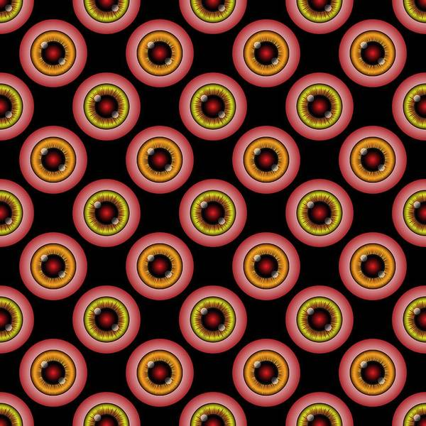 Digital Art - Monster Eyeballs Graphic Pattern by MM Anderson