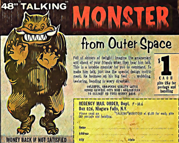 Famous Monsters Digital Art - Monster From Outer Space by Kyle West