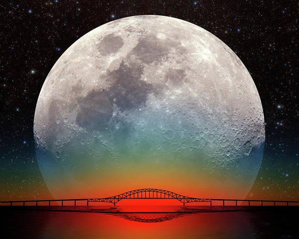 Photograph - Monster Moonrise by Larry Landolfi