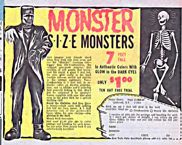 Famous Monsters Digital Art - Monster Size Monsters by Kyle West