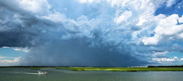 Photograph - Monster Storm Cloud Over Mt. Pleasant, Sc by Donnie Whitaker