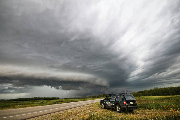 Photograph - Monster Storm Near Yorkton Sk by Ryan Crouse