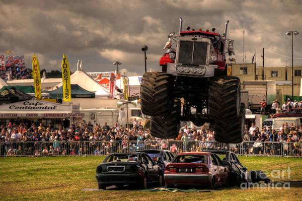 Peterbilt Photograph - Monster Truck Destruction  by Rob Hawkins