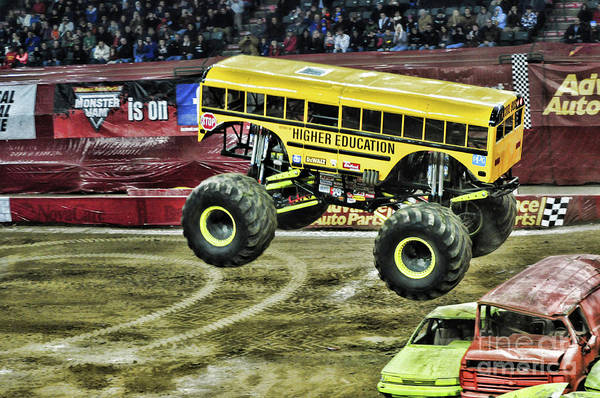 Wall Art - Photograph - Monster Truck -higher Education by Paul Ward
