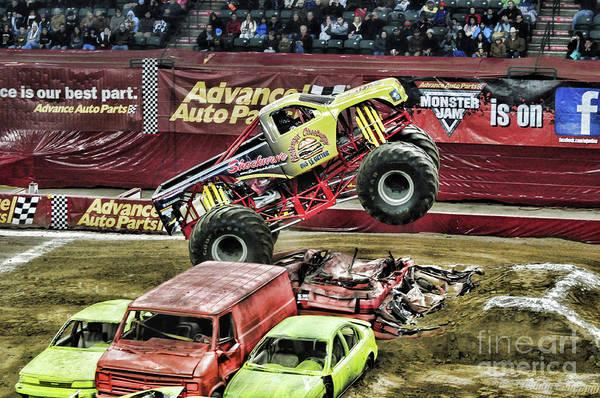 Wall Art - Photograph - Monster Truck -shockwave by Paul Ward