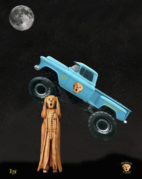 Mixed Media - Monster Truck The Scream World Tour  by Eric Kempson