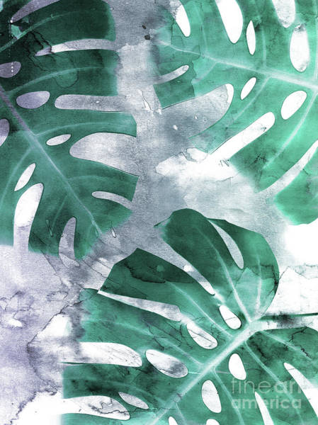 Leafs Mixed Media - Monstera Theme 1 by Emanuela Carratoni