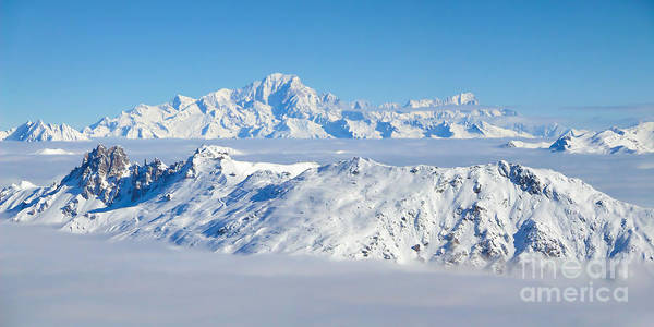 Mont Blanc Wall Art - Photograph - Mont Blanc Panorama by Delphimages Photo Creations