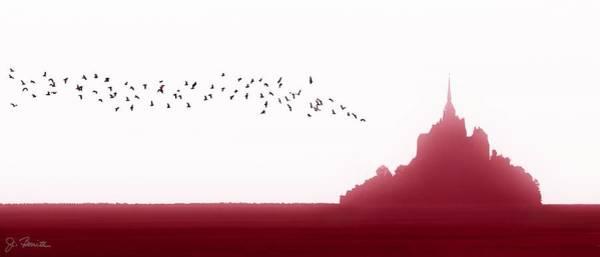 Silhoutte Photograph - Mont Saint-michel Fantasy by Joe Bonita