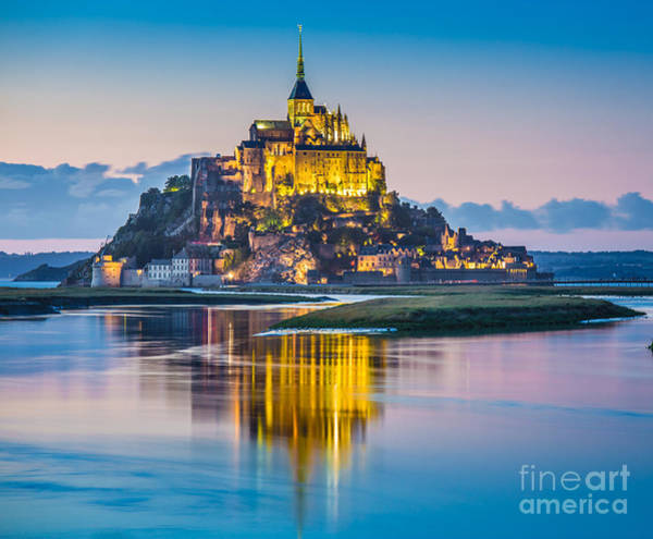 Wall Art - Photograph - Mont Saint-michel In Twilight by JR Photography