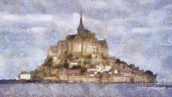 Normandy Painting - Mont Saint-michel, Normandy, France by Sarah Kirk