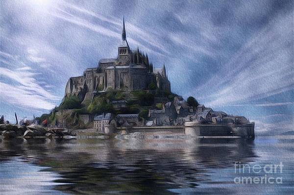 Normandy Painting - Mont Saint Michel, Normandy by John Springfield