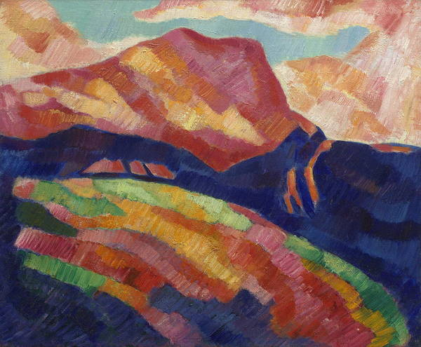 Wall Art - Painting - Mont Sainte by Marsden Hartley