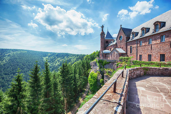Photograph - Mont Sainte-odile Abbey In Alsace, France by Ariadna De Raadt