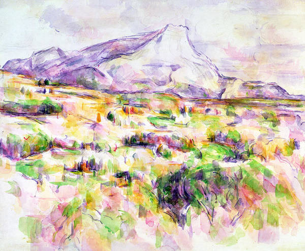 Terrain Painting - Mont Sainte-victoire From Les Lauves by Paul Cezanne