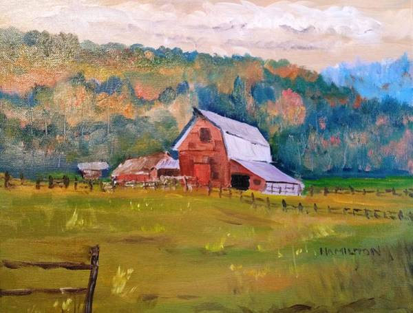 Painting - Montana Barn by Larry Hamilton