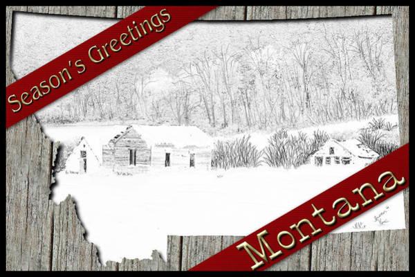 Digital Art - Montana Christmas by Susan Kinney