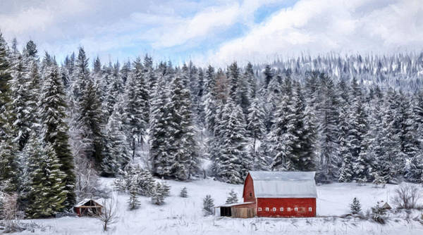 Photograph - Montana Country Winter by Wes and Dotty Weber