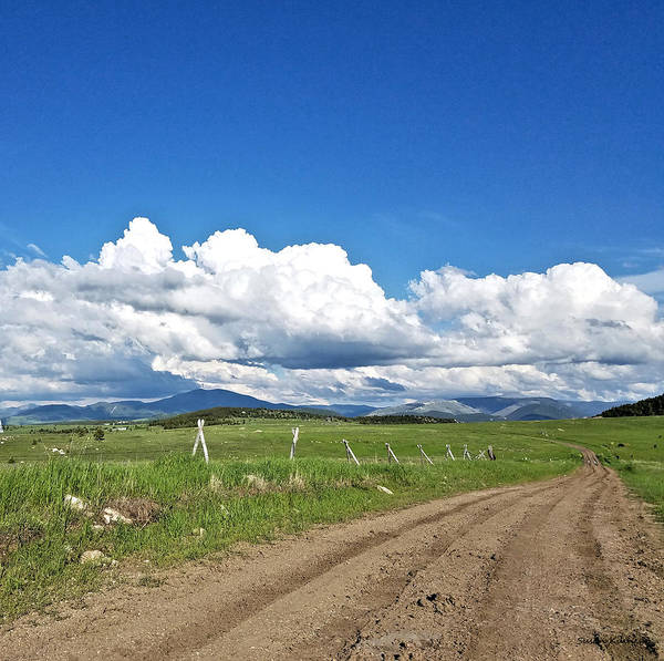 Digital Art - Montana Dirt Roads 1 by Susan Kinney