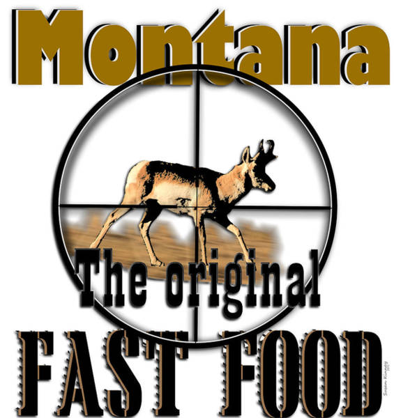 Digital Art - Montana Fast Food by Susan Kinney