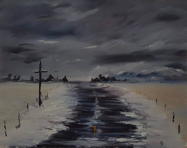 Painting - Montana Highway 287              107 by Cheryl Nancy Ann Gordon