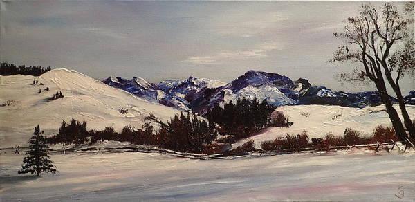 Painting - Squaw Creek  Madison Range      3 by Cheryl Nancy Ann Gordon