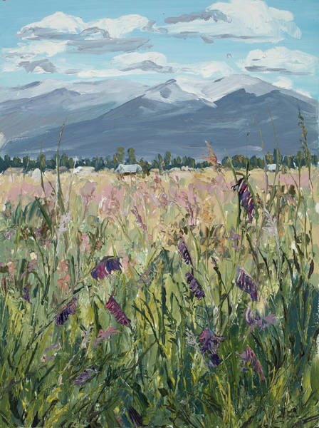 Painting - Montana Meadow by Mary Giacomini