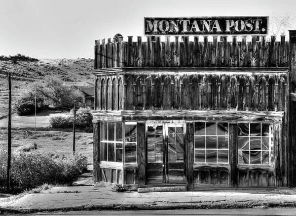 Wall Art - Photograph - Montana Post Newspaper Building by Daniel Hagerman