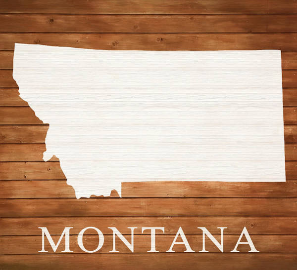 Traveler Mixed Media - Montana Rustic Map On Wood by Dan Sproul