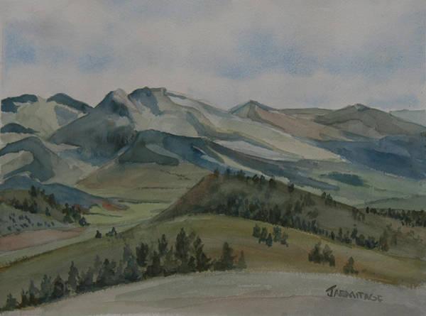 Butte Painting - Montana Skyline by Jenny Armitage