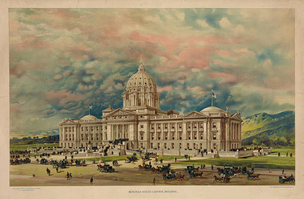 Wall Art - Painting - Montana State Capitol by 19th Century