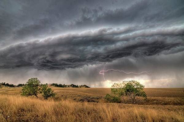 Photograph - Montana Storm by Dave Rennie