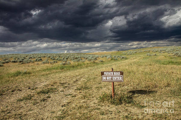 Indian Burial Ground Photograph - Montana Storm by Sandy Adams