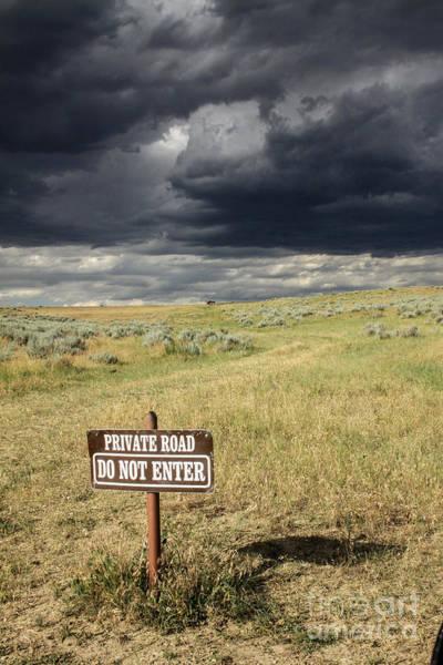 Indian Burial Ground Photograph - Montana Storm Sky by Sandy Adams