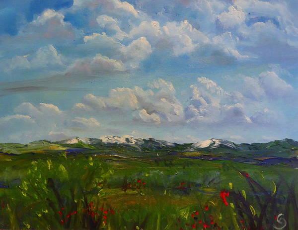 Painting - Montana Summer Storms    56 by Cheryl Nancy Ann Gordon