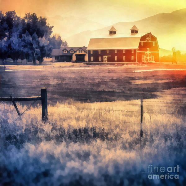 Wall Art - Painting - Montana Sunrise by Edward Fielding
