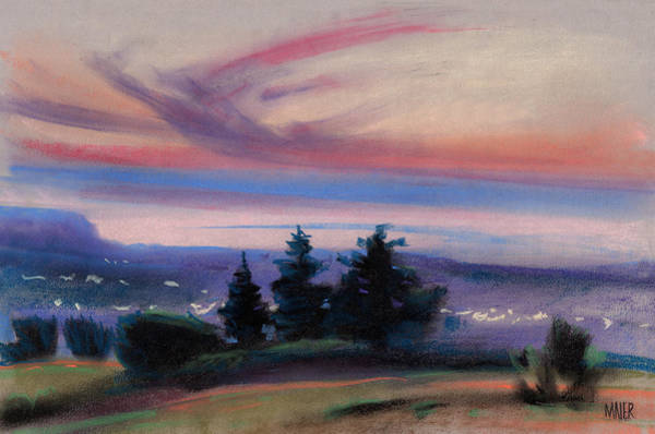 Wall Art - Painting - Montana Sunset by Donald Maier