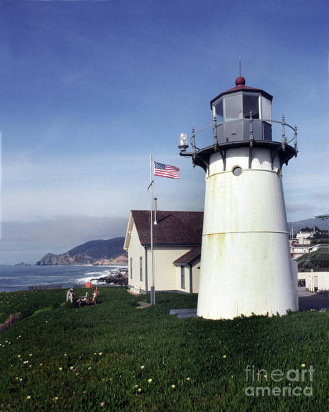 Photograph - Montara Lighthouse Now A Youth Hostel San Mateo Coast Of California South Of San Francisco  by California Views Archives Mr Pat Hathaway Archives