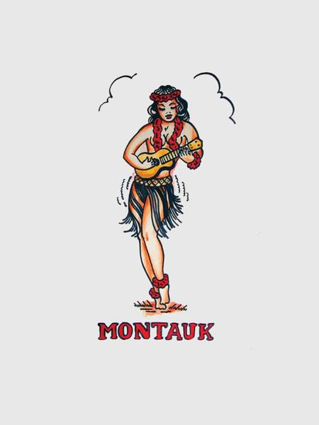 Tattoo Drawing - Montauk by H James Hoff
