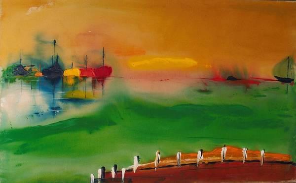 Painting - Montauk Marina by Edward Longo