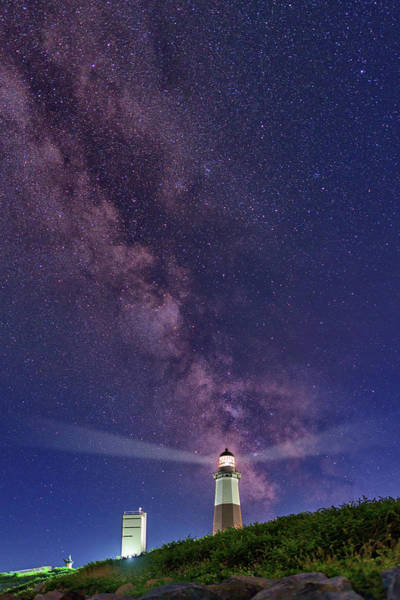 East County Photograph - Montauk Point And The Milky Way by Rick Berk
