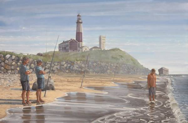 Painting - Montauk Point by Gary M Long