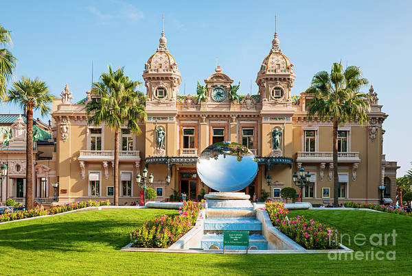 Photograph - Monte Carlo Casino And Sky Mirror In Monaco by Elena Elisseeva
