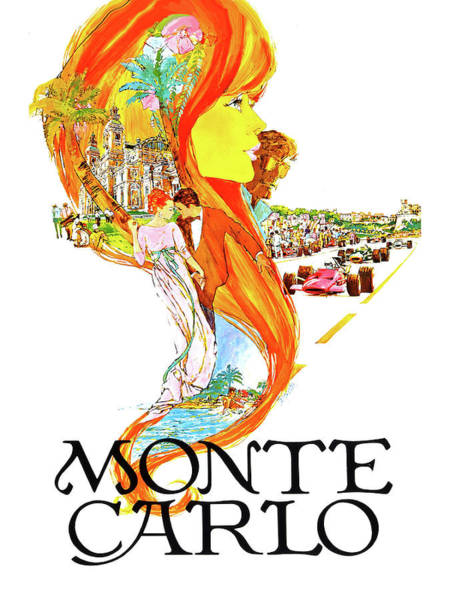 Wall Art - Painting - Monte Carlo, Redhead Girl Collage by Long Shot