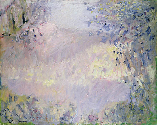 Subtle Painting - Monte Carlo  View Of Roquebrune by Claude Monet