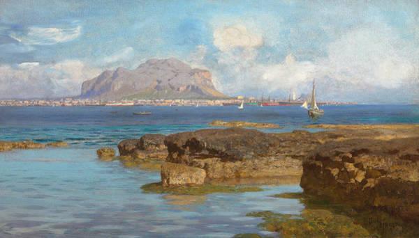 Sicily Painting - Monte Pellegrino by Francesco Lojacono