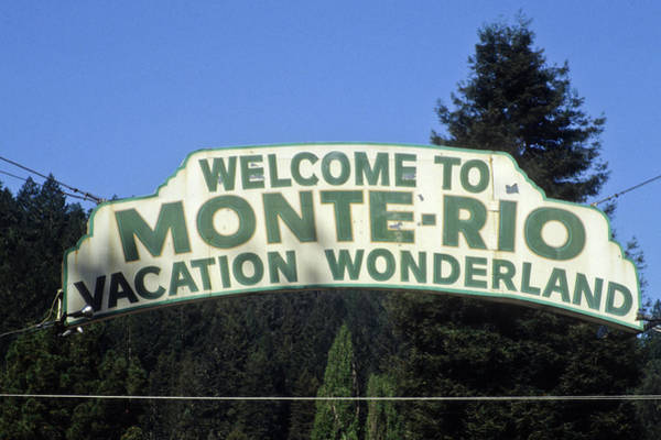 Monte Rio Sign Art Print