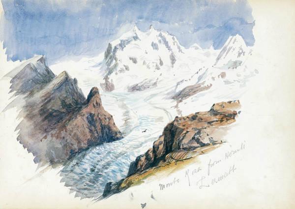 Drawing - Monte Rosa From Hornli, Zermatt by John Singer Sargent