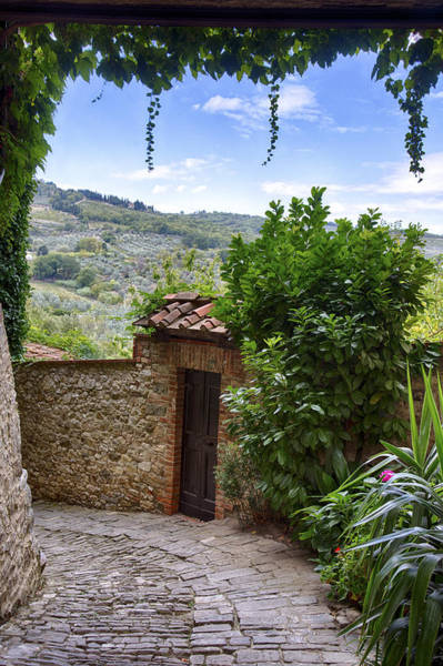 Photograph - Montefioralle, Tuscany by Kathy Adams Clark